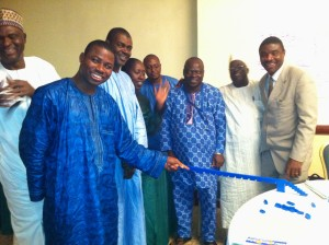 The delighted blue team, Abuja, Nigeria